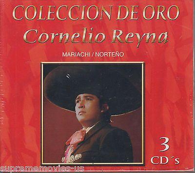 NEW - Coleccion de Oro Cornelio Reyna Mariachi/Norteno  3 CDs 30 canciones