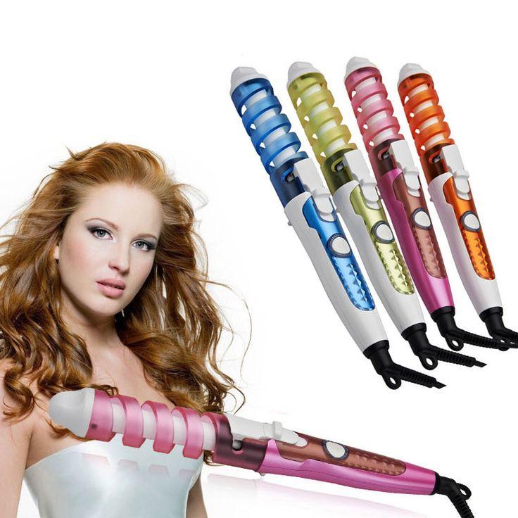 2015 новые полезные парикмахерская спираль керамическая плойка для завивки волос поделки путешествия ролик электрические укладки волос бесплатная доставка купить на AliExpress