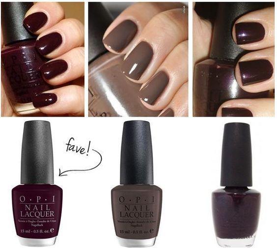 Pretty Fall nail colors