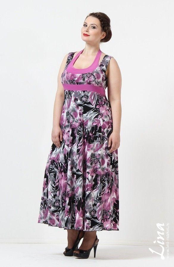 Женская одежда больших размеров Lina. Сарафан Американка