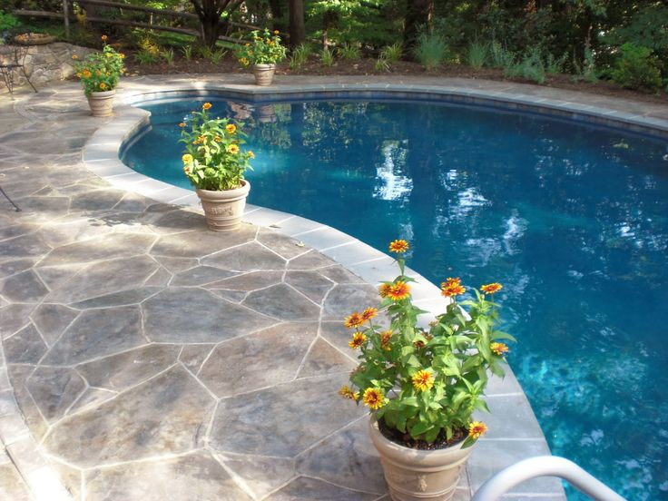 14 best concrete inground pool designs images on pinterest for In ground pool companies