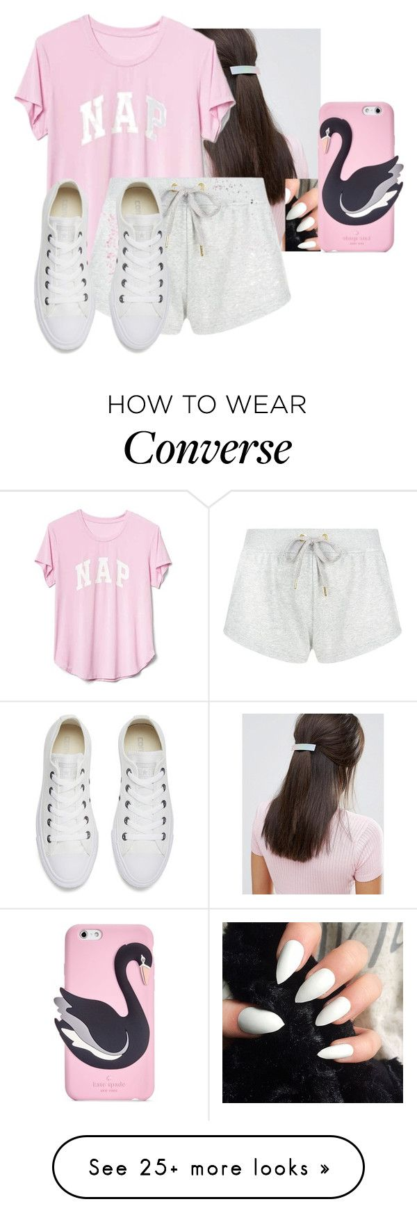 """Hey girl"" by hannahmcpherson12 on Polyvore featuring Suzywan DELUXE, Gap, adidas, Converse and Kate Spade"