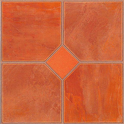60x Dalles de sol en vinyle–Autocollant–Cuisine/Salle de Bain Collant–Neuf–Orange classique 182: Dalles de sol en vinyle…