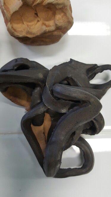 Swedish clay. FYLELERA here With a brownblack glaze on. 18 sek/ kg. Att MUD market.