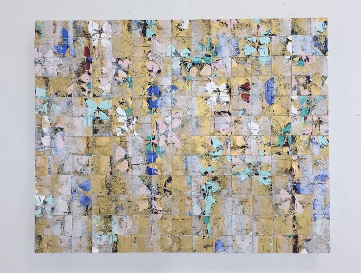 Finished today. Gold mosaic. Oil and acrylic on canvas cut and mounted on canvas…