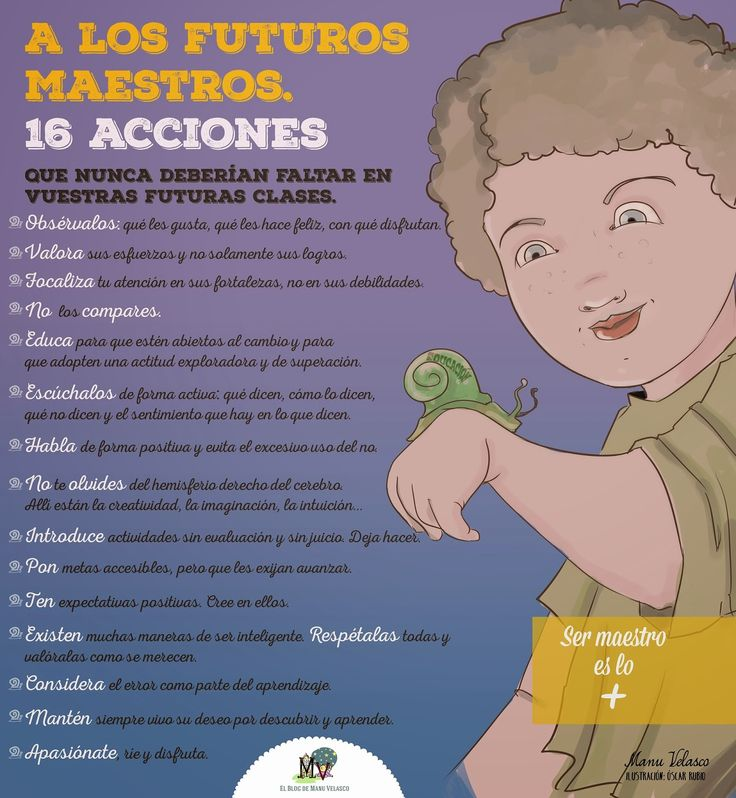 EL BLOG DE MANU VELASCO: A LOS FUTUROS MAESTROS - 16 ACCIONES QUE NUNCA DEBERÍAN FALTAR EN VUESTRAS FUTURAS CLASES