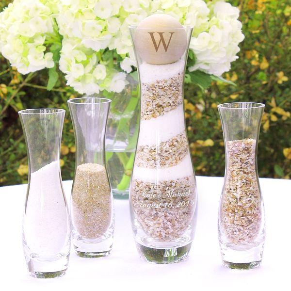 Rustic Unity Sand Ceremony 4 Piece Vase Set
