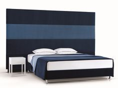 HIGH UPHOLSTERED HEADBOARD FOR DOUBLE BED PLAY BY TRECA INTERIORS PARIS | DESIGN ANDREAS WEBER