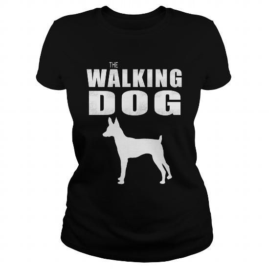 I Love  THE WALKING DOG Toy Fox Terrier Shirts & Tees
