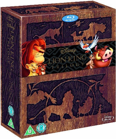 The Lion King Trilogy   3 Disc Disney Blu-Ray (AU) box set  Only like this cover!  $35.95 + $10.40 p/h = $46.35 total