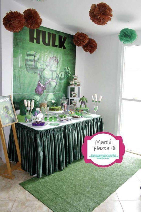 Ideas para fiesta de cumpleaños con tema de Hulk, manualidades para fiesta de hulk, bolsitas de cumpleaños de hulk, manualidades de hulk, cosas de hulk para cumpleaños, centros de mesa para fiestas infantiles de hulk, centros de mesa de hulk, fiesta tematica hulk, decoraciones de hulk para niños Hulk Theme Birthday Party Ideas #CumpleañosdeHulk #DecoracióndeHulk #FiestadeHulk #IdeasparafiestadecumpleañoscontemadeHulk #Ideasparafiestas