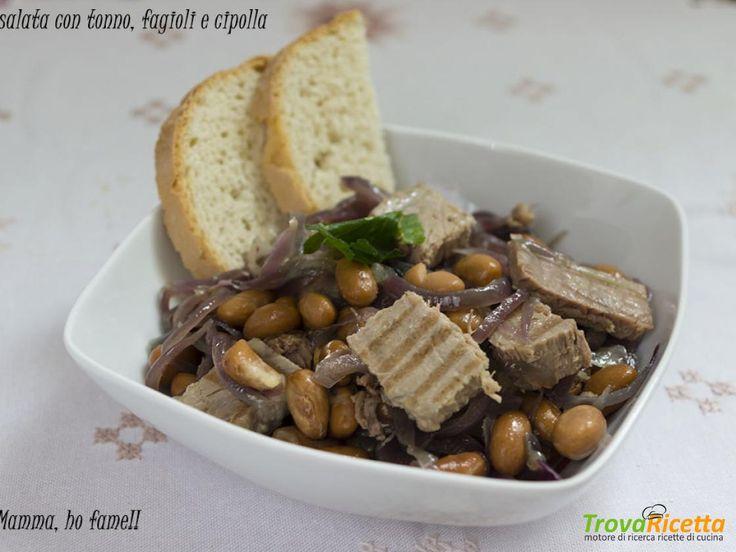 Insalata con tonno fresca, fagioli e cipolla  #ricette #food #recipes