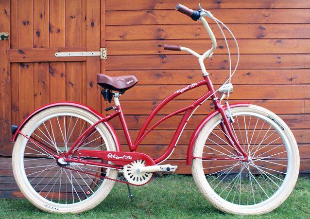 Rower cruiser Rosie #bike #cruiser #beachbike #beachcruiser #royalbi #rower #miejski www.RoyalBi.pl