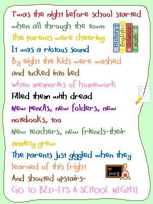 Best 25+ Back To School Poem ideas on Pinterest | Open house ...