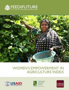 Women's Empowerment Agricultural Index. Measuring progress.