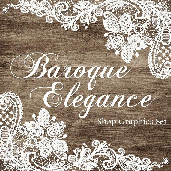 Lace Wood Banners Avatar Shop Icon Business Card par CyanSkyDesign