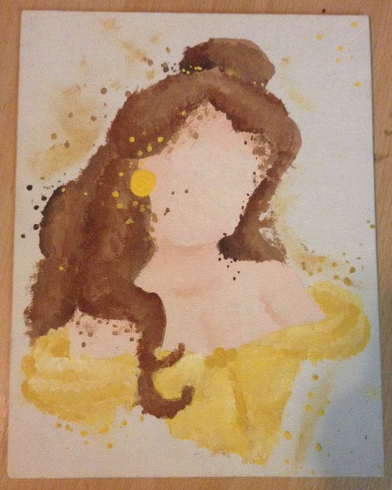 Disney Beauty and the Beast Belle Abstract Painting on ...