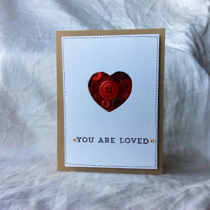A personal favorite from my Etsy shop https://www.etsy.com/ca/listing/267276609/you-are-loved-button-card-valentine-card