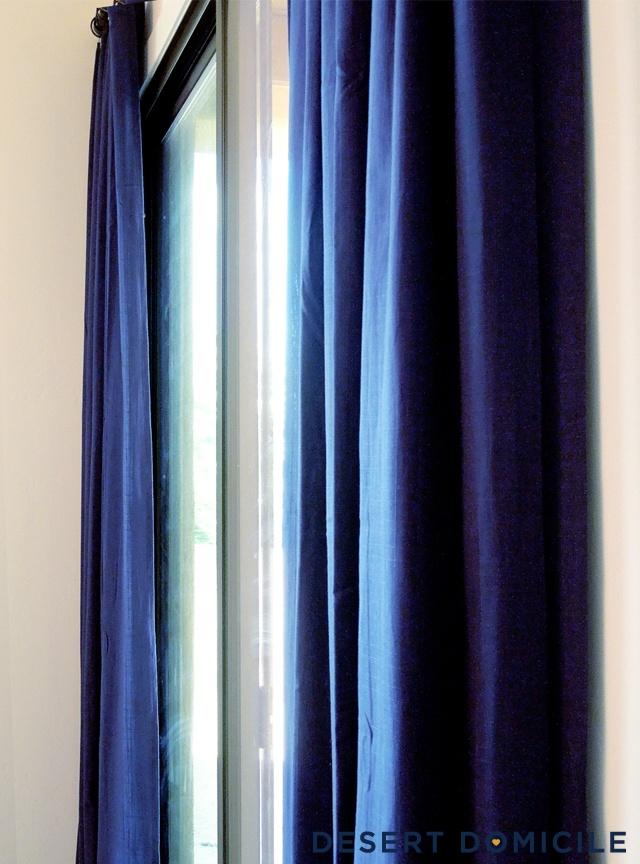 Velvet Navy Curtains: Gold navy blue curtains for bedroom. Navy blue ...