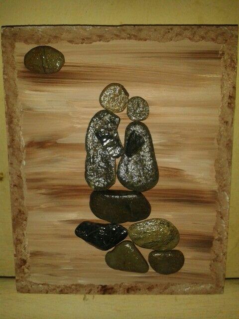 Cuadro con piedras creaciones propias pinterest stone - Cuadros con piedras ...