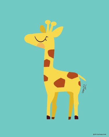 Baby Giraffe Poster : Modern Animal Illustration Nursery Art Wall Decor Print 8 x 10 | INSTANT Digital Download Printable by SealAndFriends on Etsy https://www.etsy.com/listing/167113319/baby-giraffe-poster-modern-animal