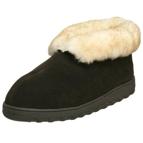 Tamarac by Slippers International Men's Highlander Shearling Slipper Tamarac by Slippers International. $46.05. leather. Rubber sole. Memory Foam Cushioning. Rubber Soles for Indoor or Outdoor use.. Genuine Sheepskin Suede Upper. Fuzzy and Cozy Sheepskin & Fleece Lining