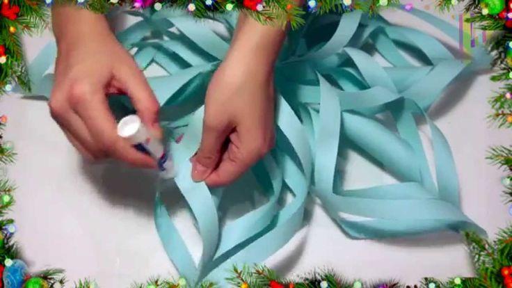 В этом видео мы решили показать как сделать объемную снежинку своими руками!