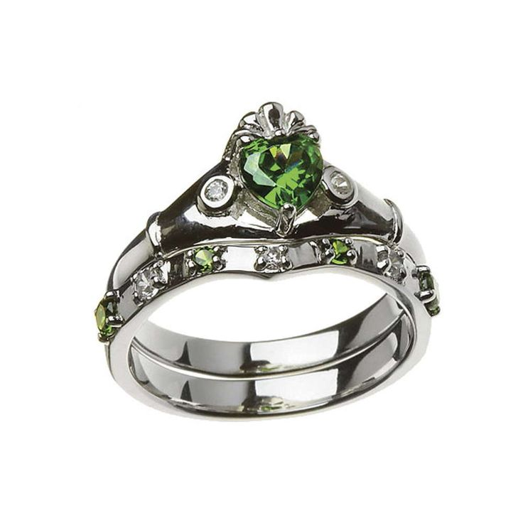 Sterling Silver Claddagh Ring Set