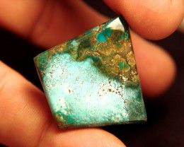 64.9 Carat Turquoise Pendant Stone 40mm by 40 - Beautiful