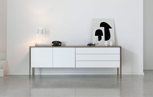Contemporary sideboard with high legs TACTILE by Terence Woodgate punt mobles