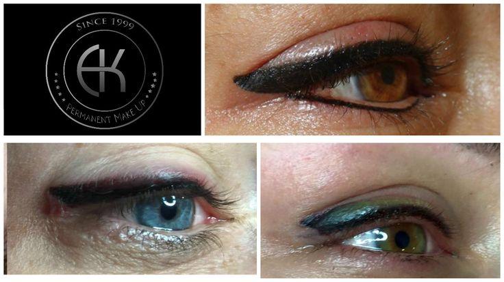 Teilschattierungen Augen permanent make up