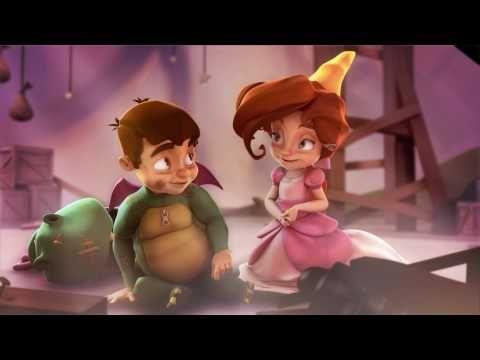MovieTalk - el dragón, el caballero, la princesa se gustan, es malvado, quiere que lo bese, la/lo defiende
