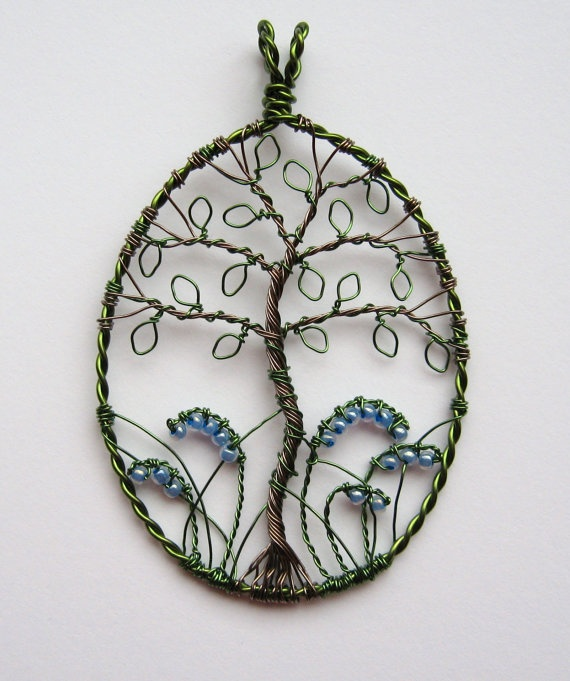 Nice! >> Bluebell Wood wire wrapped and beaded tree by LouiseGoodchild, £28.00