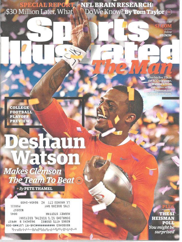 Deshaun Watson Clemson Football Sports Illustrated Magazine, December 14 2015 #Doesnotapply