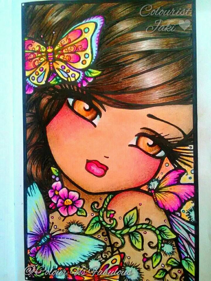 april fairy from enchanted faces book hannah lynnface books youngfacesartistscoloringinstagram3paintings