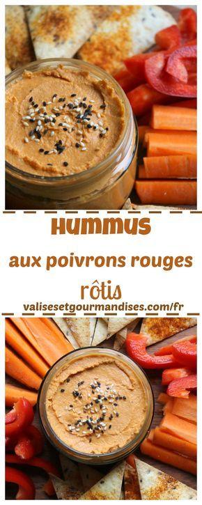 Hummus aux poivrons rouges rôtis - Valises & Gourmandises