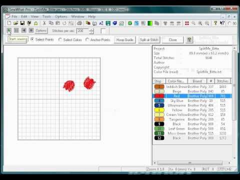 ▶ DIGITIZE And Create EMBROIDERY Files - Easily AND For FREE - Tutorial .PES .JPG Etc. - YouTube