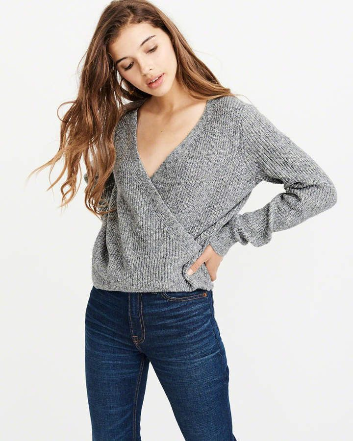 74e2c3848a9 Abercrombie   Fitch Wrap-Front Sweater