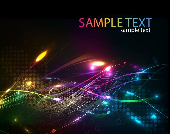Free vector Futuristic Abstract Glowing Light Curves Background #7352