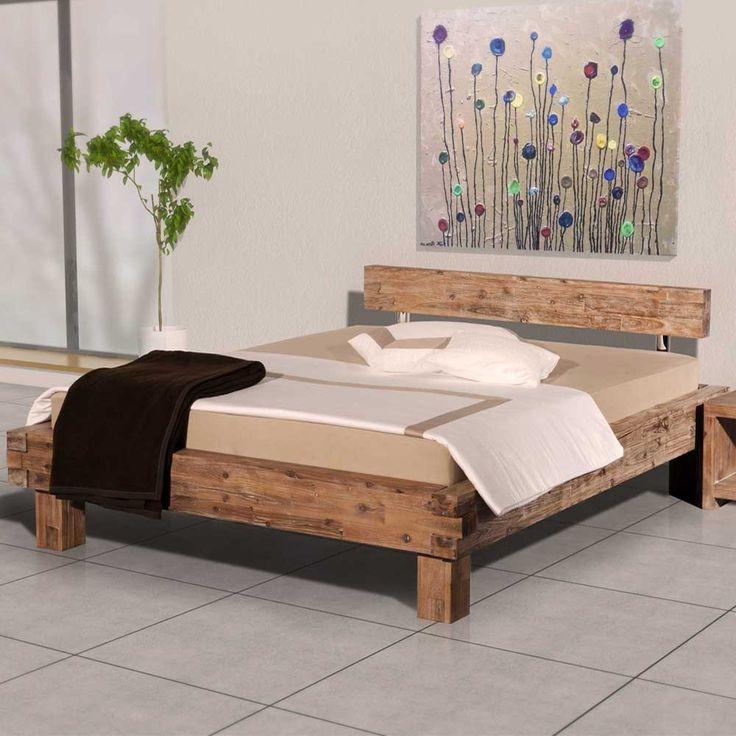 Die besten 25+ Rustikales holzbett Ideen auf Pinterest Diy - innovative matratze fur doppelbett erlaubt eine bewegungsfreiheit
