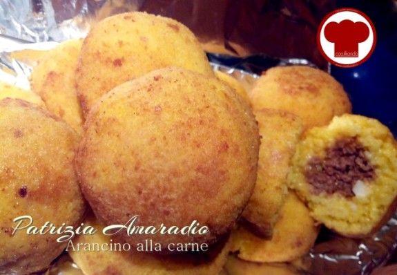 La mia ricetta dell'arancino Siciliano con carne……….la trovi su  www.cookkando.it
