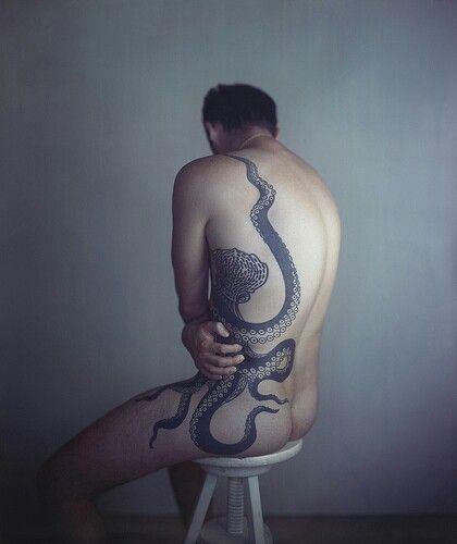Interesting octopus tattoo.