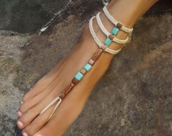 Brown Yggdrasil TREE of life BAREFOOT SANDALS Turquoise by GPyoga
