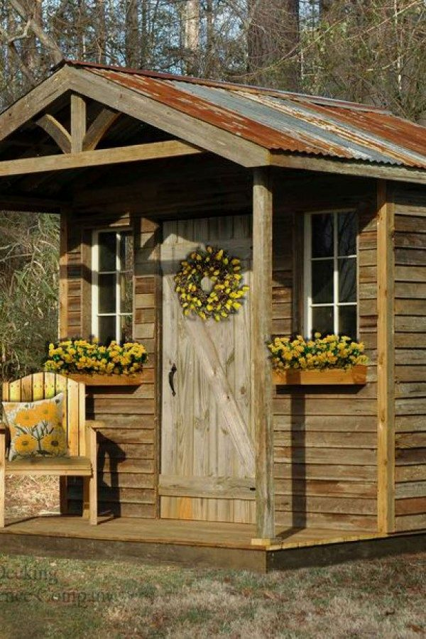29 awesome potting shed transformation ideas for your landscaping rh pinterest com