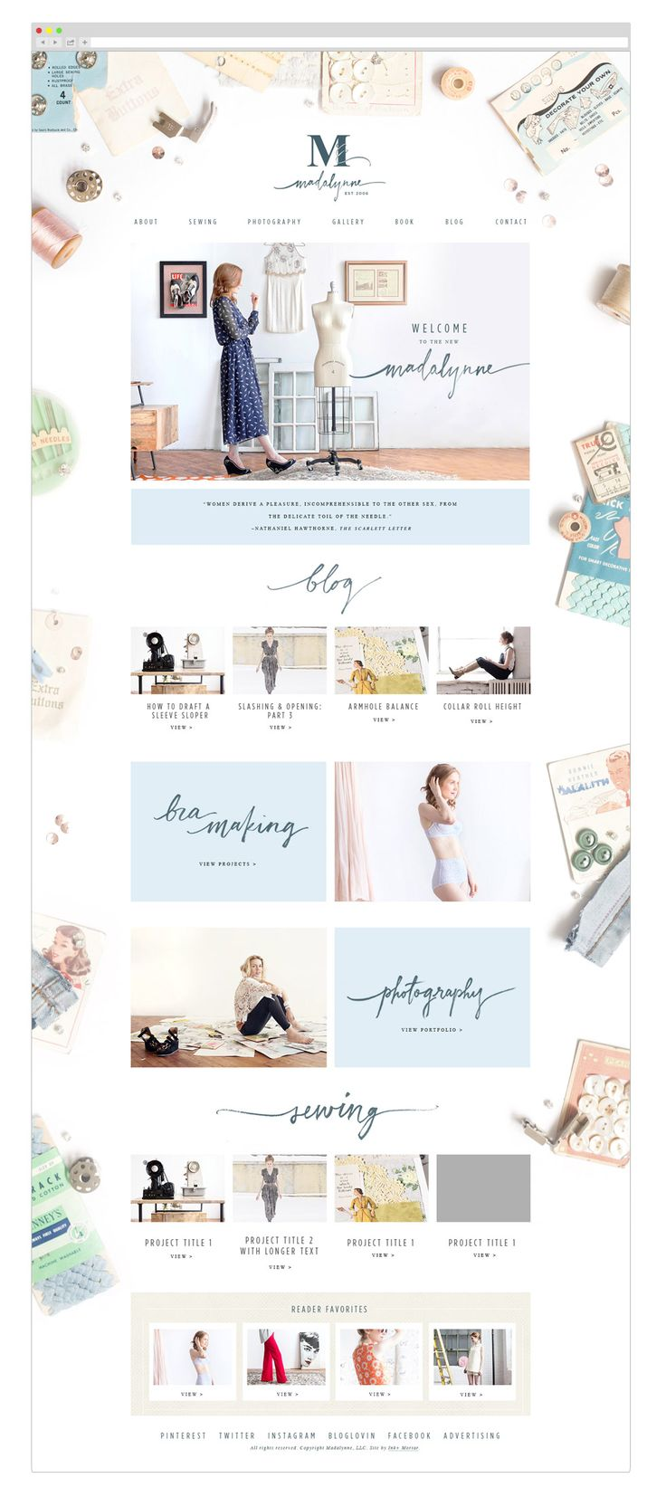 Madalynne Web design by Ink & Mortar Design Co