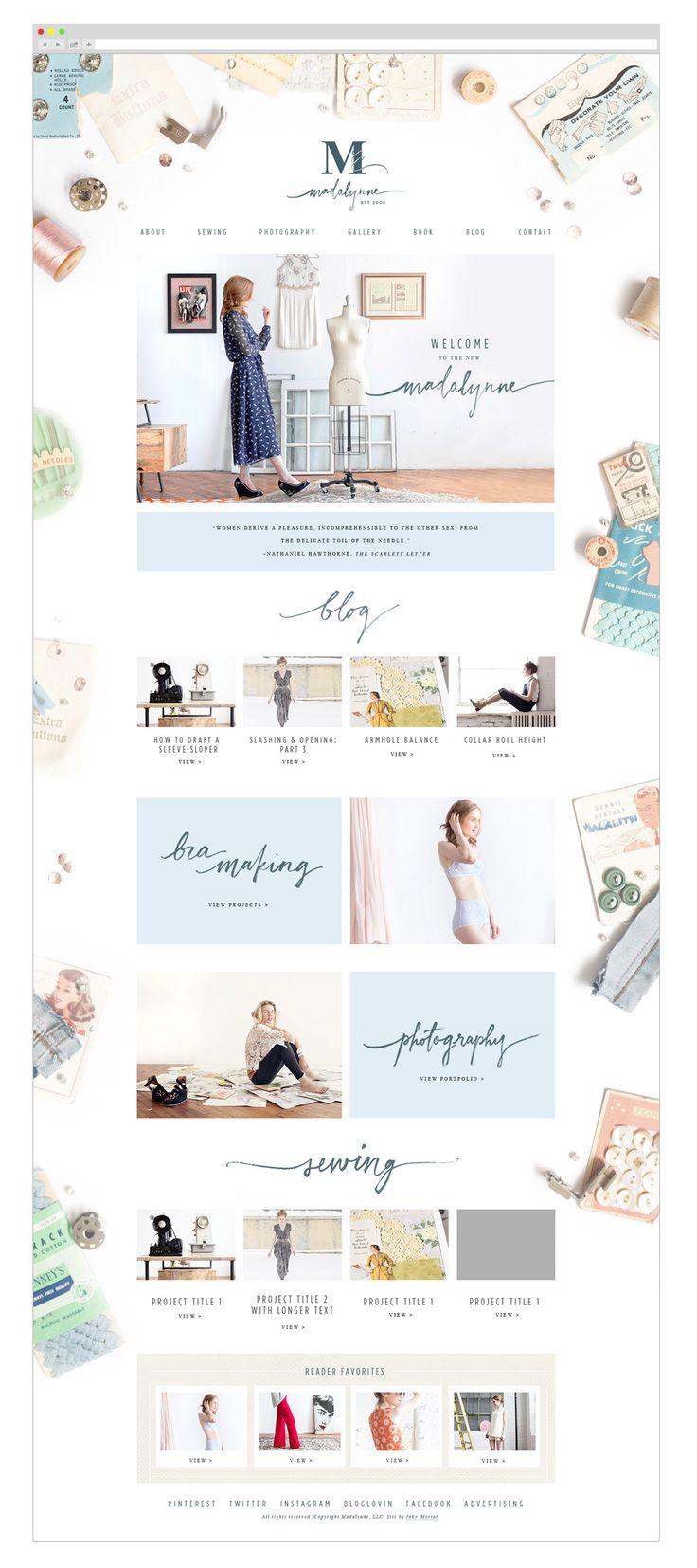Madalynne Web design by Ink & Mortar Design Co