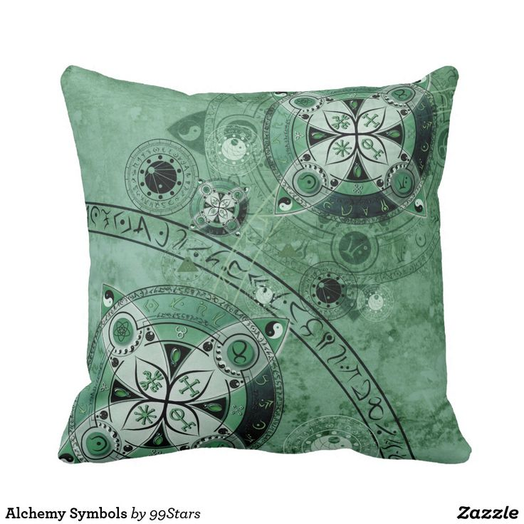 Alchemy Symbols Throw Pillow