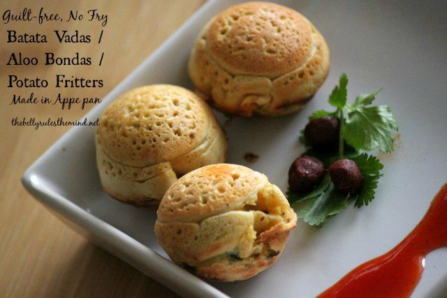 Batata Vada / Aloo Bonda made in Appe pan – The Belly Rules The Mind