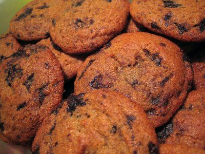 Carob Chip Cookies with Homemade carob chips