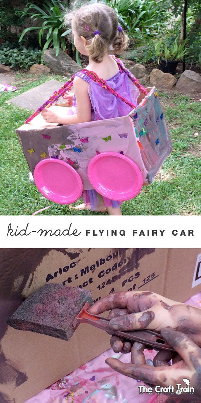 Kid-made flying fairy car